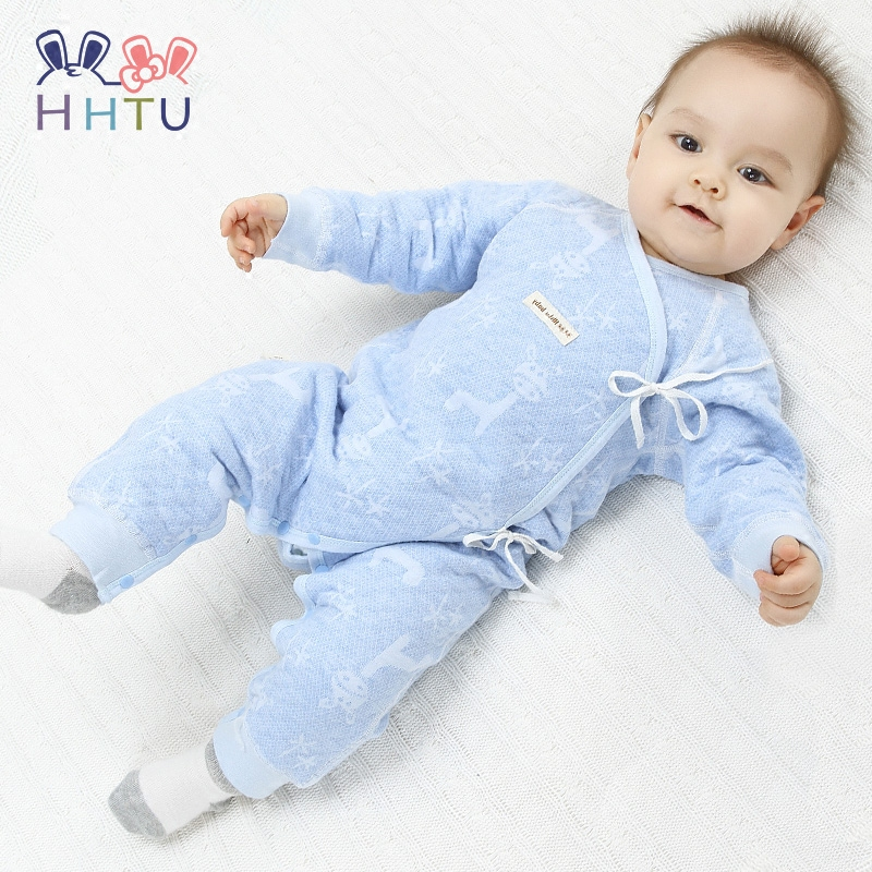HHTU 2017 Rompers Newborn Long Sleeve Clothes Boys Girls Warm Spring Autumn Infant Jumpsuit Cotton Winter Clothing Thickening baby clothing newborn baby rompers jumpsuits cotton infant long sleeve jumpsuit boys girls spring autumn wear romper clothes set