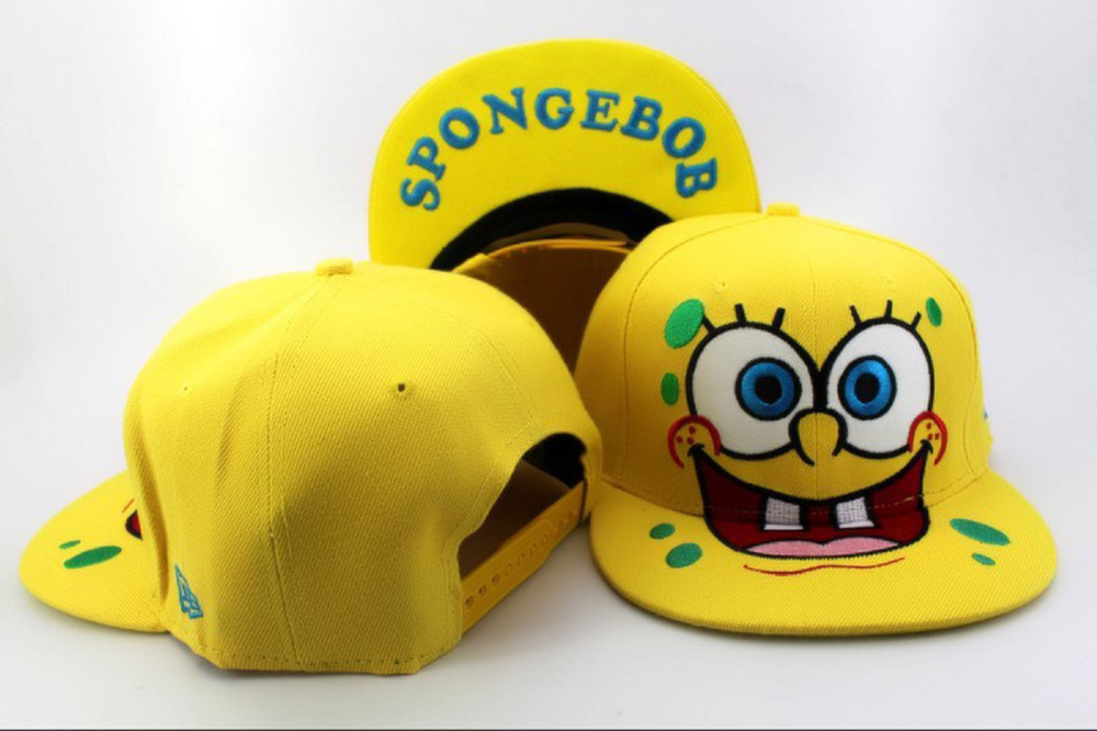 f98aa9a55f812 Fashion cartoon snapback hats Plants vs Zombies Zombie Big Face spongebob  hip hop cap DOMO Nickelodeon adjustable baseball caps-in Men s Baseball Caps  from ...