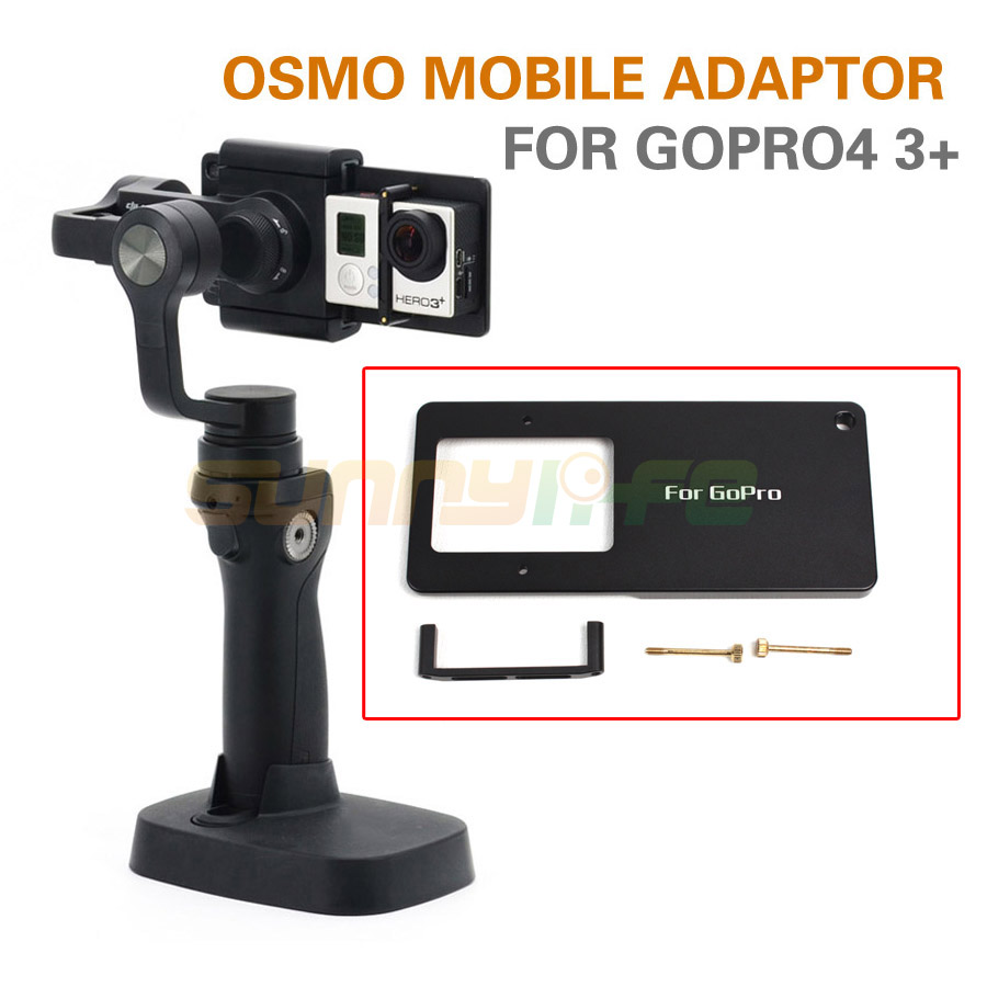 Adapter Switch Mount Plate For Dji Osmo Mobile Handheld Gimbal Silver And Gopro4 3