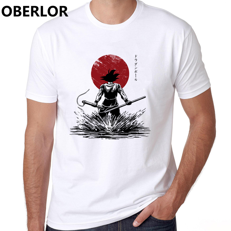 Camiseta Masculina Dragon Ball Z Print Tshirt Japan Anime Stranger Things Cotton Casual Clothes Harajuku Streetwear T Shirt Men