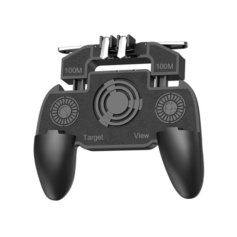 Mobile Gaming Controler Gamepad Joystick Trigger Controller Rechargeable Gamer Control Pad With Cooler Fan For PUBG