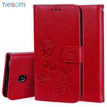 YIESOM For Samsung Galaxy J3 2017 J5 J7 Cover Leather Wallet Flip Stand Phone Cases for Samsung Galaxy J330 J530 J730 2017 Case(China)