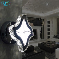Home Decorative Loft LED Wall Lights Stainless Steel Crystal Led Ceiling Lamp Round Base Luminaria De