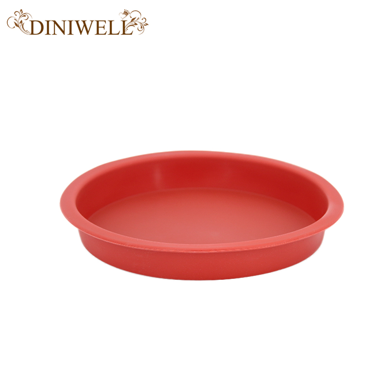 Diswasher Roundness Silicone Pizza Pan Circle Smile Cake Mold Disposable Baking Mould Non Stick Food Grade Kitchen Cake Tools  circle