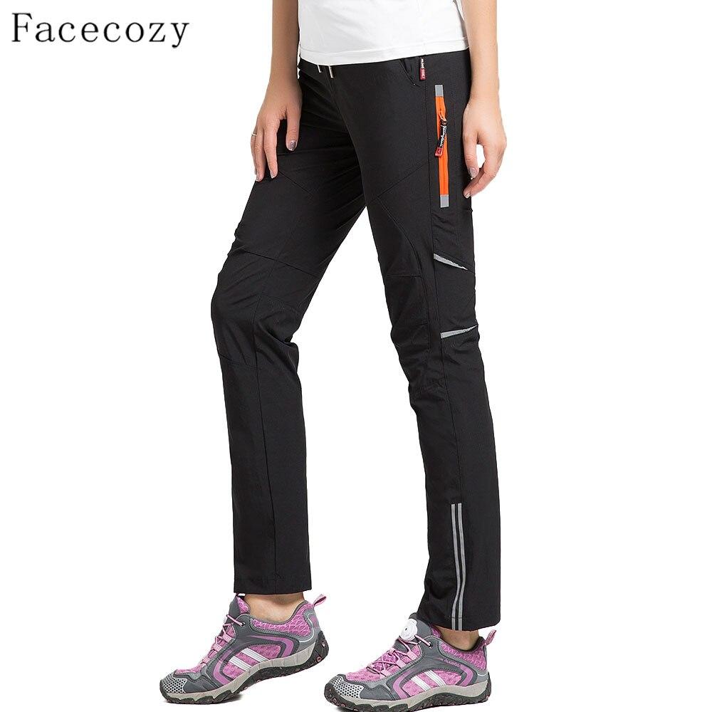Женские быстросохнущие брюки Facecozy, эластичные нейлоновые дышащие непромокаемые брюки для пеших прогулок и кемпинга, спорта на открытом воз...