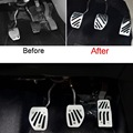 2-3 Pcs DIY Car Styling Aluminum accelerator brake pedal for AT MT Cover Case Stickers For Peugeot 301 2008 307 2014 Accessories