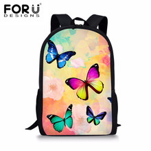 FORUDESIGNS Rainbow Butterfly Printed Japanese School Bag Satchels For Teenagers Girls Cute Primary Schoolbag Backpack Tornister