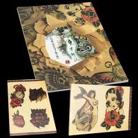 108 Ontwerp Tattoo Flash Boek A4 108 Pagina Skelet vogel Patroon Schets Oude Chinese Elementen Voor Tatoeëren Body Art Supply