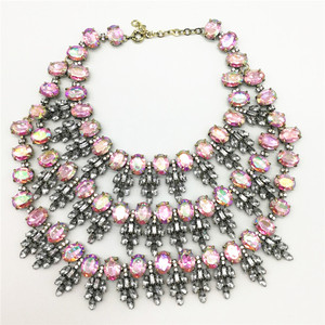 Image 5 - New Arrival Women Crystal Choker Gem Beads Boho Collier Femme Multilayer Statement Collar Maxi Necklace Fashion Wedding Jewelry
