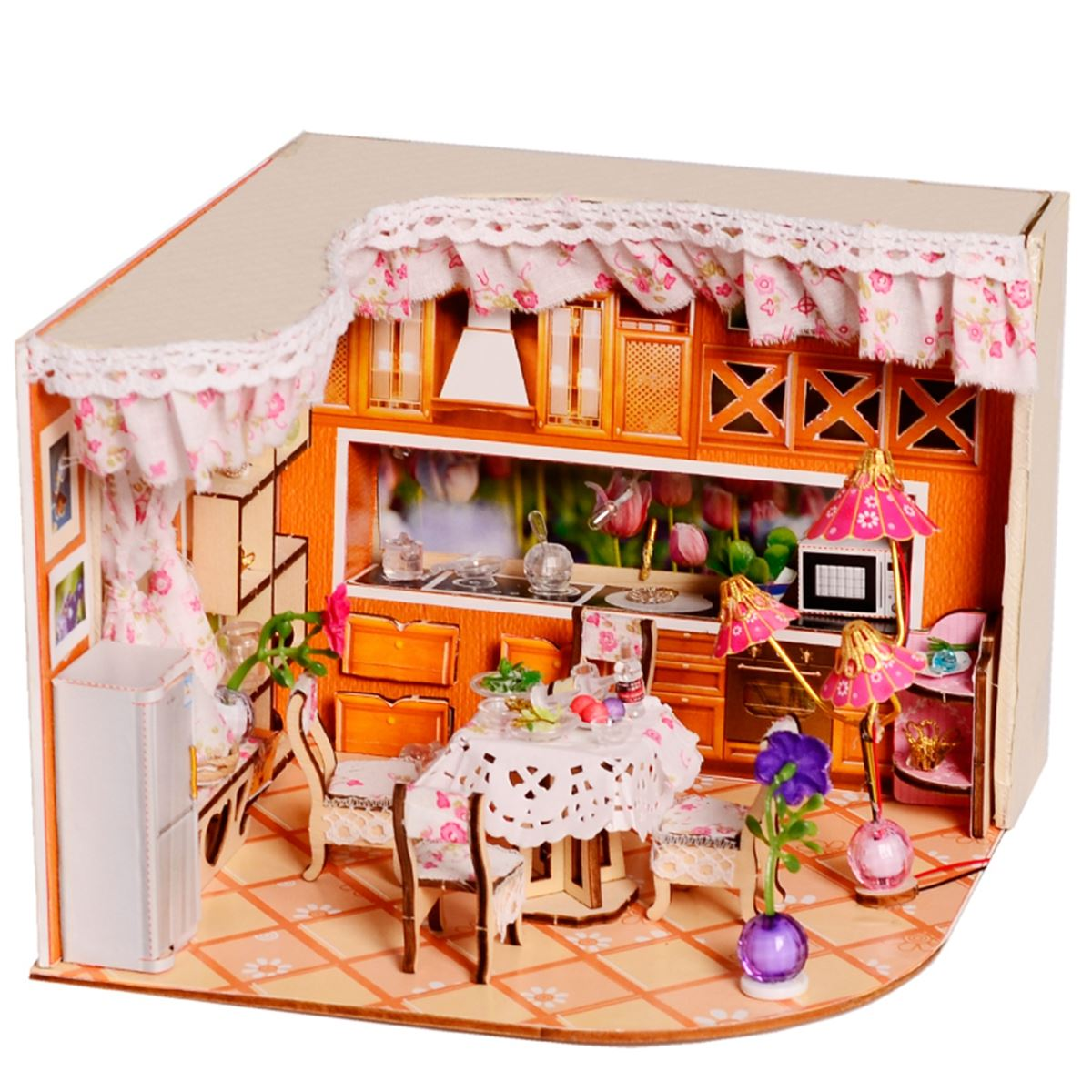 Lovely merry sweet home habitat room diy dollhouse kit with led lovely merry sweet home habitat room diy dollhouse kit with led light wood decoration miniature dollhouse toys gift in doll houses from toys hobbies on solutioingenieria Images