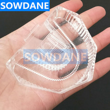 Disposable Plastic Dental Lab Laboratory Mold Base Denture Tray Dental Lab Sectioned Base Kit Transparent Clear цена 2017
