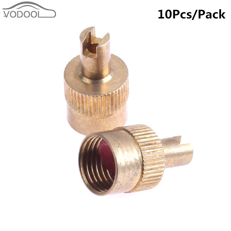 10Pcs Copper Slotted Head Valve Stem Cap For Schrader Car Motorcycle Valve Wheel Tyre Tire Valvol Lid Dust Cover Auto Accessory