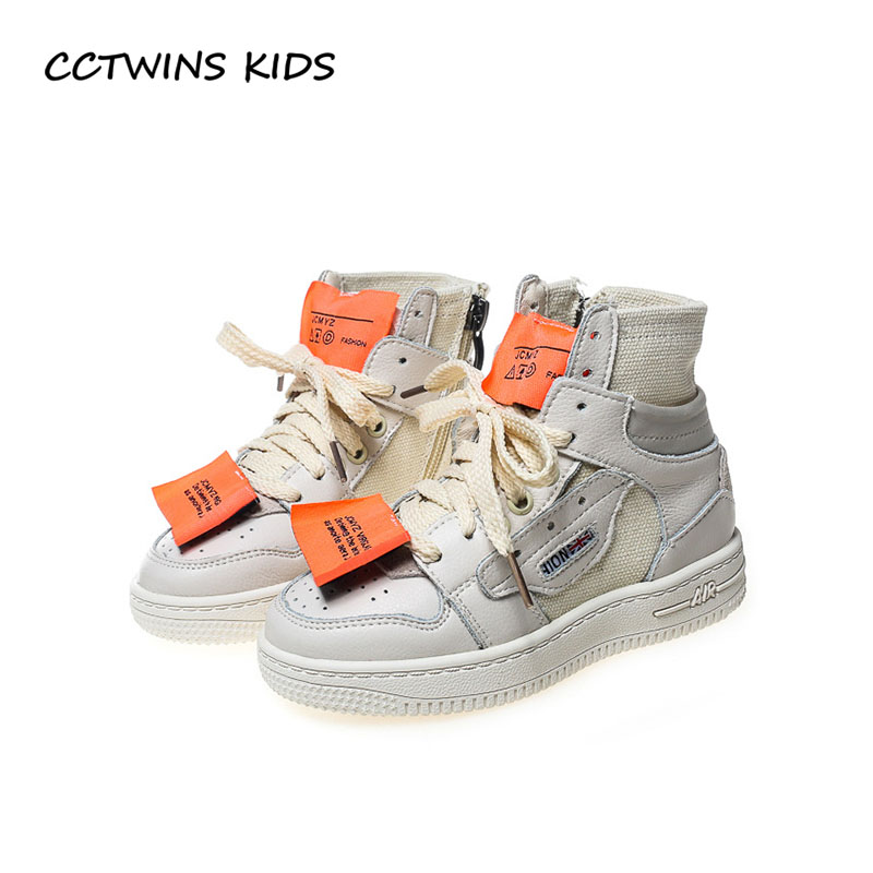 все цены на CCTWINS KIDS 2018 Autumn Baby Girl Fashion High Top Sneaker Children Casual Trainer Boy Brand Pu Leather Sport Shoe FH2209