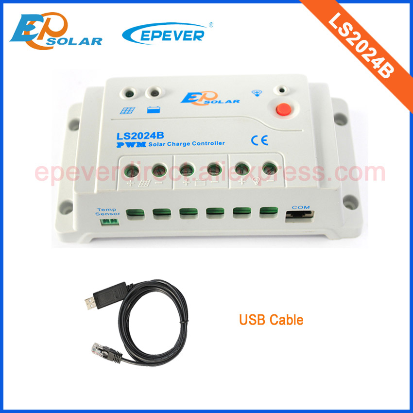 Free Shipping to Korea/Japan/UK/US,high quality solar panels controller LS2024B with USB cable PC connect RS-485 20A 20ampsFree Shipping to Korea/Japan/UK/US,high quality solar panels controller LS2024B with USB cable PC connect RS-485 20A 20amps