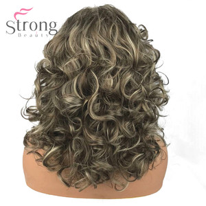 Image 3 - StrongBeauty Womens Synthetic Wigs Long Curly Hair Beige Blonde Mix Capless Natural Wigs
