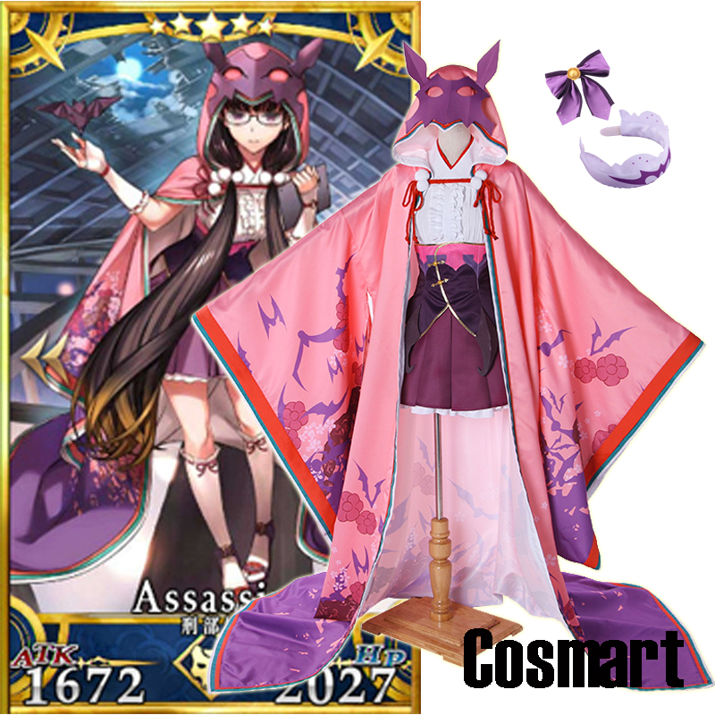 [Customize]Anime FGO Fate Grand Order Ms Assassin figure Osakabehime Battle Uniform +Cloak Halloween Cosplay costumes for women