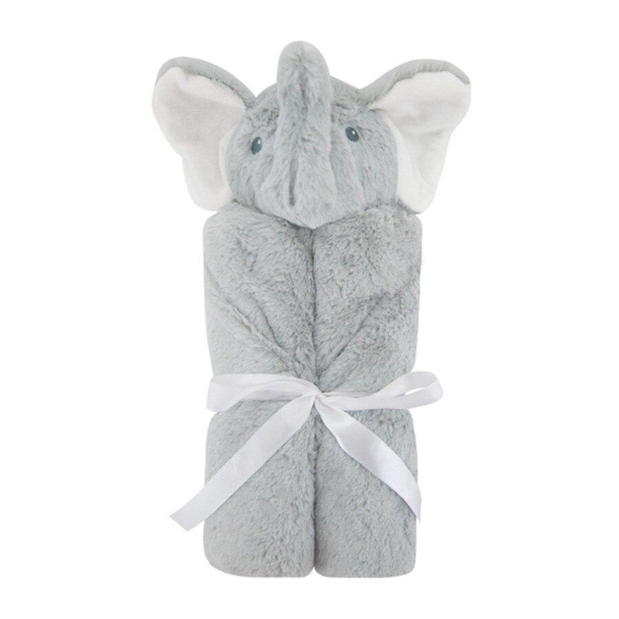 Couverture de bébé d'ouatine de corail de peluche d'hiver lange d'emmaillotage nouveau-né couverture de réception de bébé Super douce chaude 76 cm * 76 cm literie de bébé