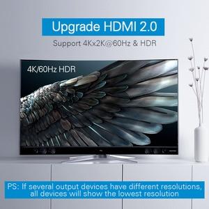 Image 2 - Ugreen HDMI 2.0 Splitter UHD 4K/60Hz HDR Adapter HDMI 1x 4/1x2 HDMI 1 wejście 4 konwerter wyjściowy dla PS4/3 HDTV rozdzielacz HDMI
