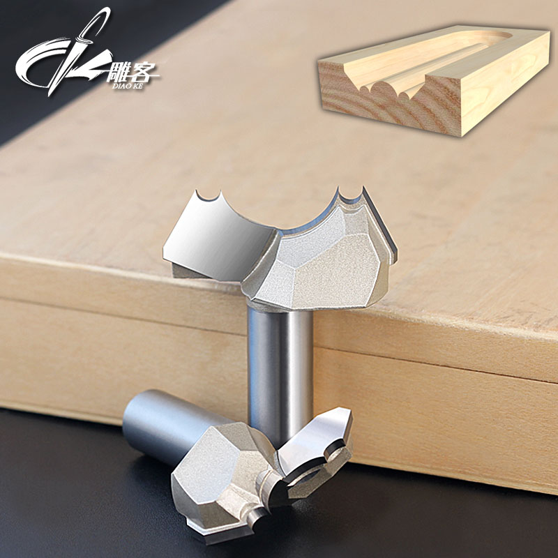 1pc 12.7mm shank CNC woodworking carving tools milling cutter router bits for wood 1/2 SHK high grade carbide alloy 1 2 shank 2 1 4 dia bottom cleaning router bit woodworking milling cutter for mdf wood 55mm mayitr
