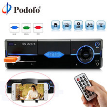 Podofo 1 Din Autoradio Auto Audio Stereo MP3 Bluetooth FM AUX USB Auto In-Dash Autoradio Player Con Telecomando Carica Del Telefono