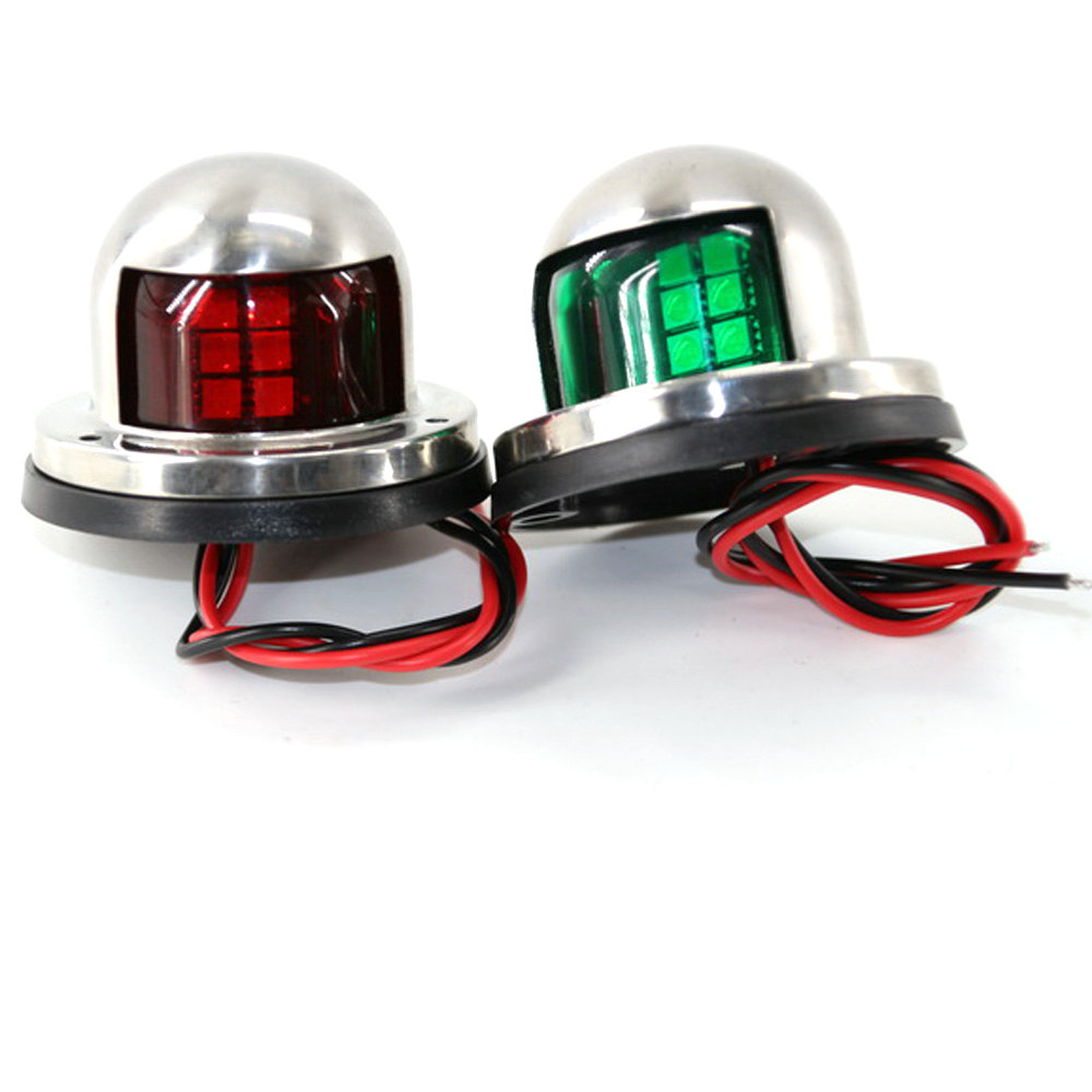 CHENGYILT 1 Pair Stainless Steel 12V IP68 LED Red and Green Signal Lights Pilot Lamp for Marine Boat Yacht Accessories книга росмэн peppa pig 24099