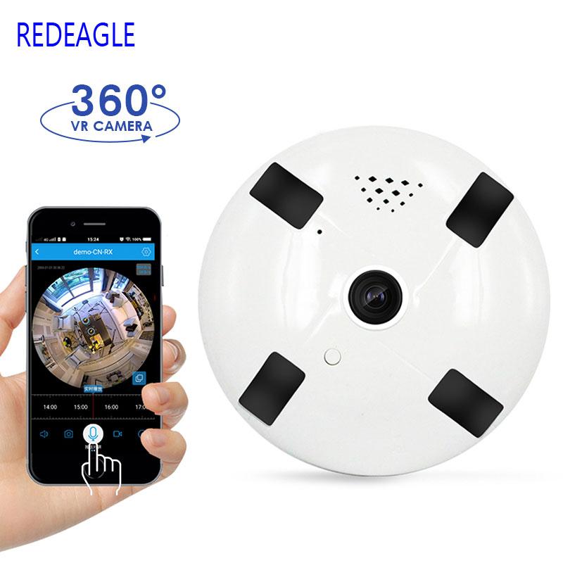 1080P 3D VR WIFI Smart Camera Audio 360 Degree VR Panoramic Camera 2MP FIsheye Wireless Camera TF Card Slot видео очки excelvan 52 3d tf 128753701