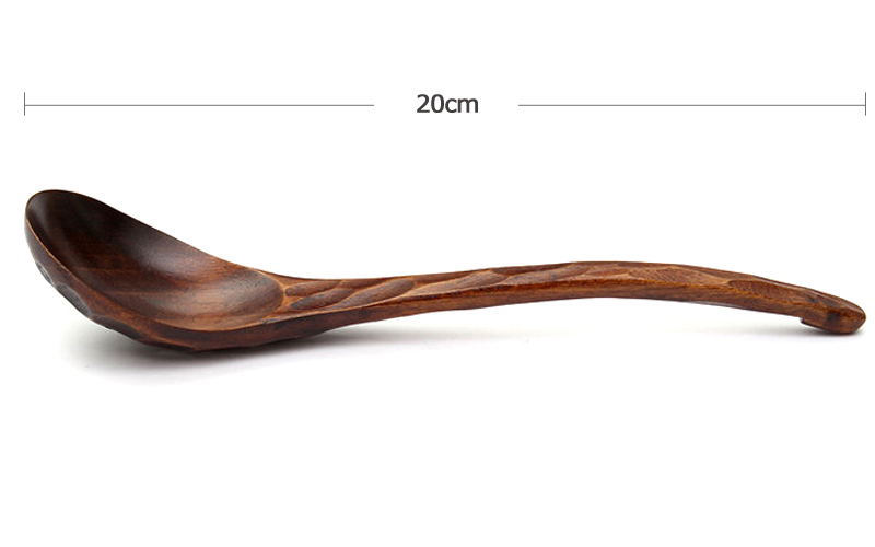 2Pcs Soup Spoon Set Large Wooden Spoon Long Handle Dinner Rice Cereal Spoon Tortoise Shell Wood Kitchen Spoon Scoop Tableware Wood Utensil Kitchen Accessories (7)