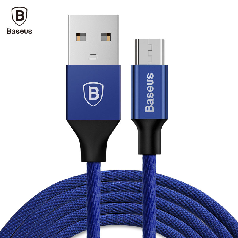 Baseus Micro USB Cable For Xiaomi Redmi 4X 4 Pro Note 4X Samsung S7 MicroUSB Fast Data Sync Charger Cable Reversible USB Cable