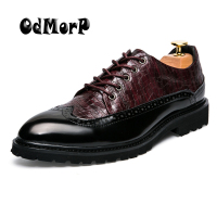 Men Shoes Spring Fashion Men S Oxfords Red Lace Up Wedding Dress Shoes Black Shoes Casual