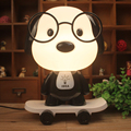 dog doctor skateboard table lamp glasses dog cartoon night light children bedroom berth lamp creative gifts light