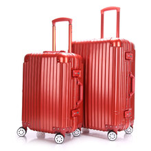 YISHIDUN 20 24 Inch Trolley Case TSA Lock Hook Up PC ABS Aluminum Frame Spinner Wheel