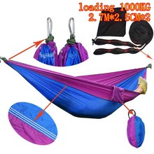 adults single Person Hammock Parachute Portable Outdoor Camping Indoor Home Garden Sleeping Hammock Bed 300kg Max
