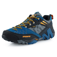 2017 Outdoor Man Hiking Hunting Shoes Climbing Cow Suede Shoes Sport Mountain Athletic Men Net Yarn Breathable Sneakers Shoes