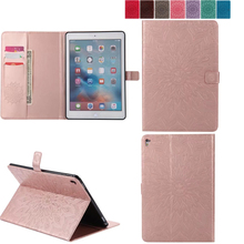 For iPad professional 9.7′ sunflower PU Leather-based Case Shockproof Protecting Stand For Apple iPad professional Pill 9.7 inch Good Cowl Fundas