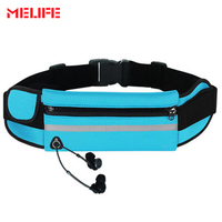 MELIFE Unisex   Running   Travel Waist Bags Jogging Bags Sports Portable Cycling Bag Outdoor Waterproof Adjustable Waist Pocket