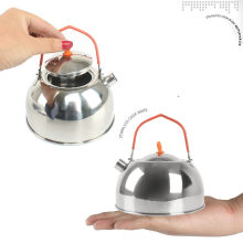 0.6L Outdoor 304 Stainless Steel Mini Ketel Camping Piknik Hiking Memancing Kopi Pot Portable Teko(China)