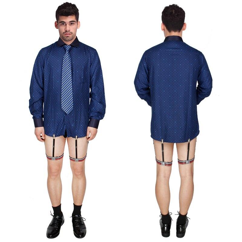 Apparel Accessories Mens Shirt Stays Suspenders Braces For Shirt Holder Garters Red Gray Striped Elastic Adjustable Gentleman Leg Belt Business A2a