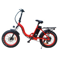 VTUVIA E bike 48V 500W brushless motor Electric bicycle 7 Speed 20 inch step through Fat tire Mountain Snow Electric bike