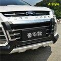 Бампер для Ford Kuga Escape 2013-2015  передний + задний диффузор  защита для губ  противоскользящая пластина  АБС-пластик  хромированная отделка  2PES