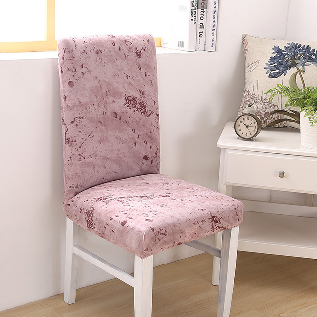 pink slipcover chair high chairs reviews 2018 ink printing fashion style cover stretch seat covers elastic banquet hotel home decoration housse de chaise