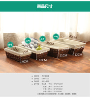 Home wool storage basket storage basket cosmetics storage box desktop storage baskets