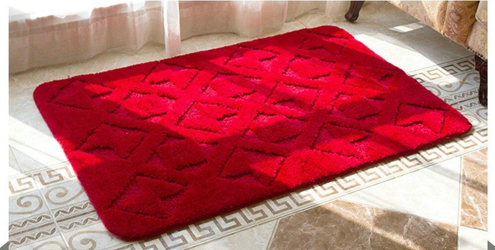 NiceRug livraison gratuite arc rouge microfibre antidérapant salle de bain salon cuisine étage maison mariage fête décoration tapis tapis M