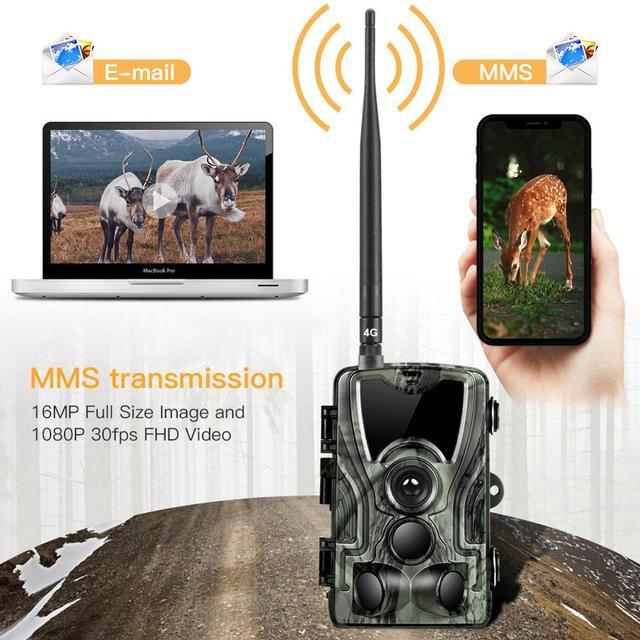 Suntekcam HC-801LTE 4G Hunting Camera 16MP Infrared Camera MMS/SMTP Photo Trap 0.3s Trigger Time 940nm LED Wild Camera PhotoTrap 4