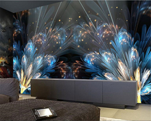 beibehang 2017 new fashion advanced aesthetic dream 3d wallpaper dazzling bar tooling background wall decoration papel de parede