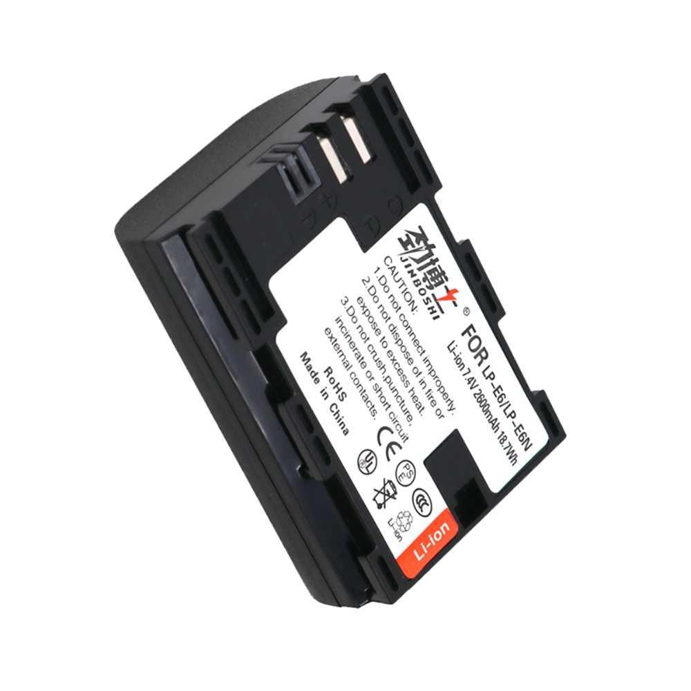 4 шт 7,4 v 2600 maH Цифровая LP-E6 LP-E6N LP E6 Батарея для зеркальных фотокамер Canon EOS 5D Mark II III 60D 5D 7D 6D 70D 80D Бесплатная доставка
