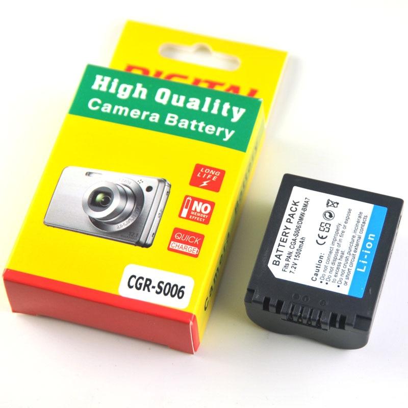 CGA-S006 CGR CGA S006E S006 S006A DMW-BMA7 DMW BMA7 Battery for Panasonic DMC FZ7 FZ8 FZ18 FZ28 FZ30 FZ35 FZ38 FZ50 1pcs cga s006 cga s006ebattery charger car charger for panasonic cgr s006a 1b bp dc5u cgr s006e