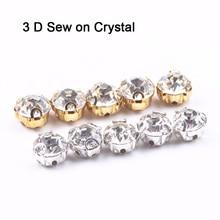 все цены на 3D glass crystal Silver claw setting 4mm 5mm 6mm 7mm 8mm Glass  Rhines Sew on rhinestone beads bags wedding dress diy онлайн