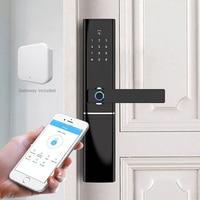 WiFi Door Locks Fingerprint, Waterproof Electronic Door Lock Intelligent Biometric Door Lock Smart Fingerprint Lock with gateway