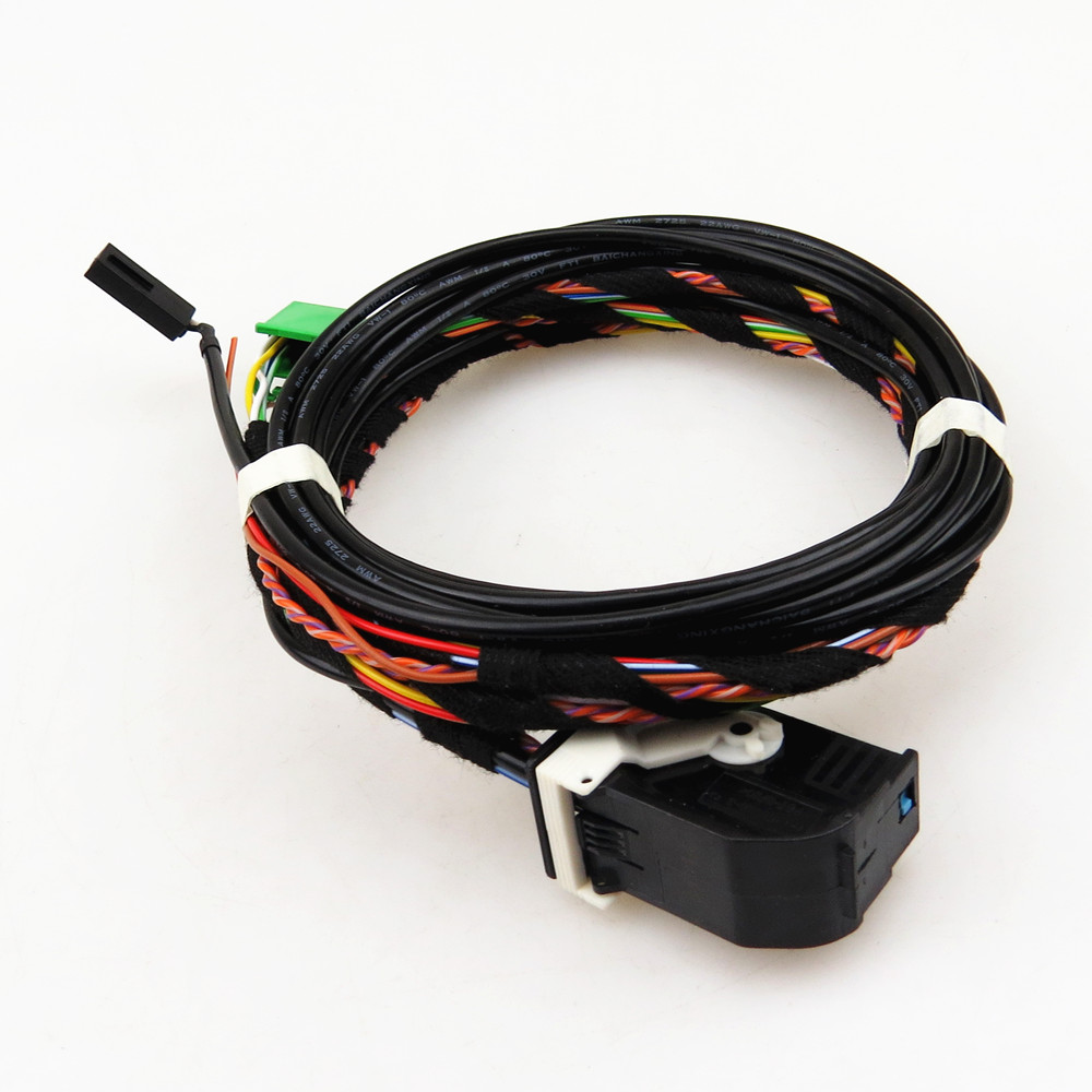 A-STYLE 9W2 9W7 Car Bluetooth Plug Wiring Harness Cable For VW Passat B6 Jetta Golf MK5 6 Tiguan Polo RCD510 RNS510 1K8 035 730D 9w2 bluetooth module harness with microphone 1k8 035 730 d for vw golf mk6 jetta mk5fit rcd510