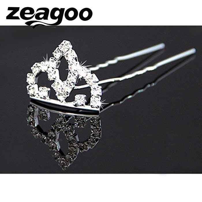 Расческа мини Детская Свадебная заколка для невесты стразы принцессы волос